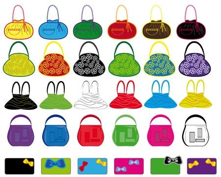 set di borse multicolore donna