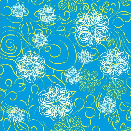 abstract seamless pattern with flowers or snowflakes. Beauty floral background Stock Vector - 13833370