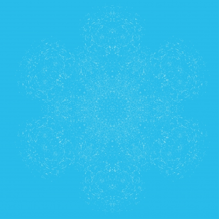 Abstract isolated flower or snowflake. illustration. Style grunge Stock Vector - 13834325