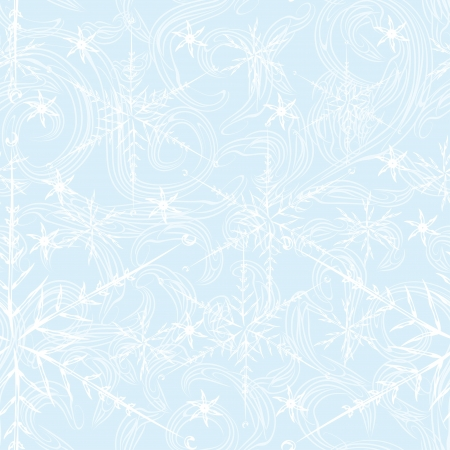 abstract seamless pattern with different snowflakes. Beauty winter background Vector
