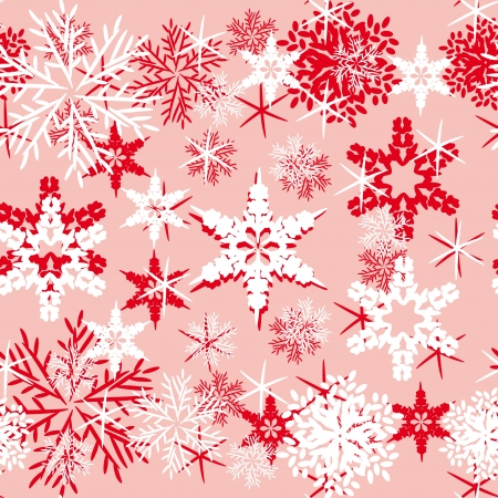 Vector background with various snowflakes. Abstract gentle illustration Vector