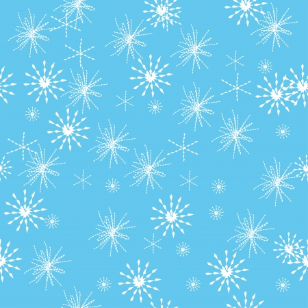 abstract seamless pattern with winter snowflakes. Vector ilustration Vector