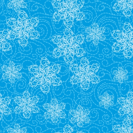 abstract winter seamless gentle texture for you design with snowflakes or flowers Vector
