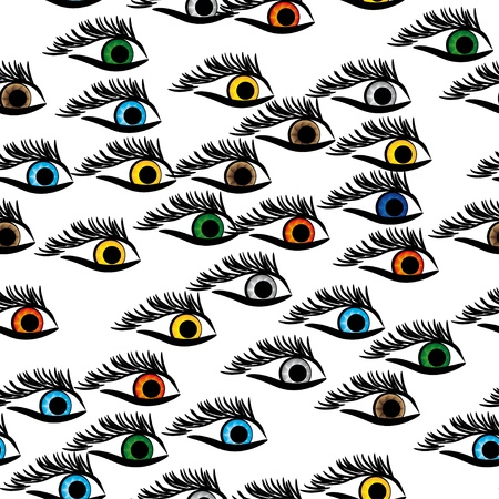 seamless structure with multi-colored eyes Stock Vector - 14262885