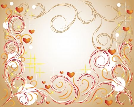 tatto: abstract love background with curling branches for you design