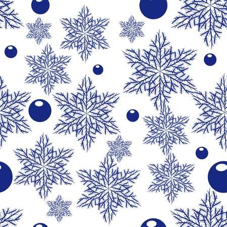 abstract seamless texture with snowflakes. Beauty winter background for you design Vector