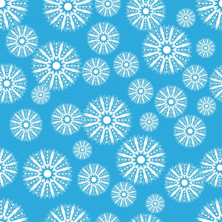 beautiful blue winter seamless structure with snowflakes . abstract  background Vector