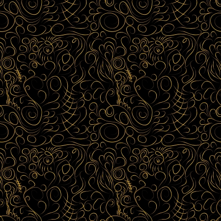 creative  pattern with interlacings and curls for use as a template Vector