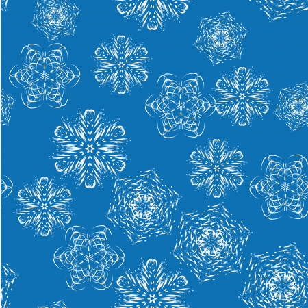 winter pattern for use in various festive design with beautiful snowflakes Stock Vector - 15205296