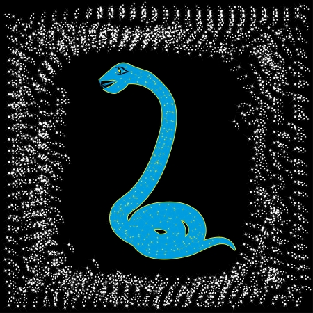 card by new year  Symbol of 2013  Abstract snake  illustration Vector