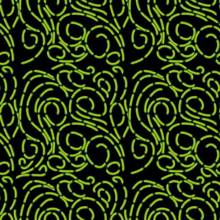 green branches of cristmass tree on black background in  pattern fr use as a design Vector