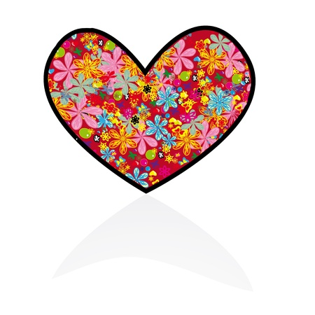 flower heart consisting of many elements Vector