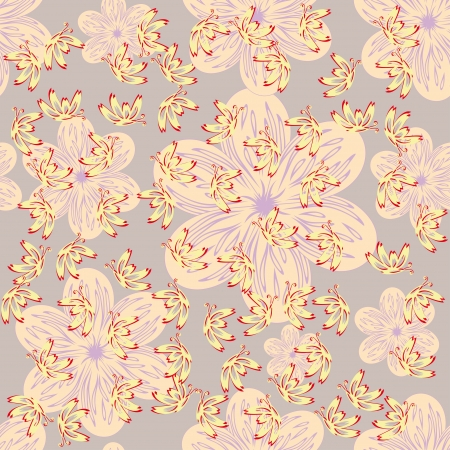 abstract floral pattern with butterflies and flowers Stock Vector - 15205251