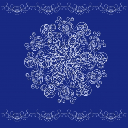 beautiful winter card with abstract isolated  snowflake  illustration  Vector
