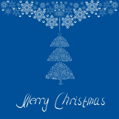 beautiful abstract Christmas tree for your design   Vector