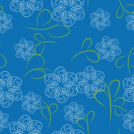 abstract seamless floral pattern. Vector illustration Vector