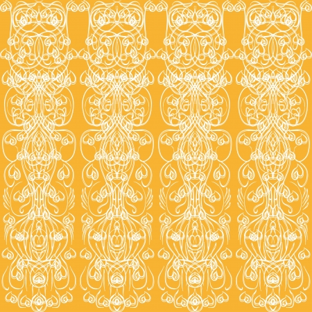 abstract vector on a brown background with ornate elements Stock Vector - 15392935
