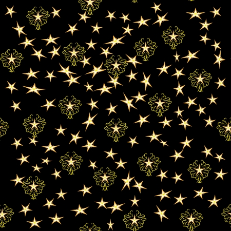 seamless texture with different stars on black. abstract vector illustration Vector
