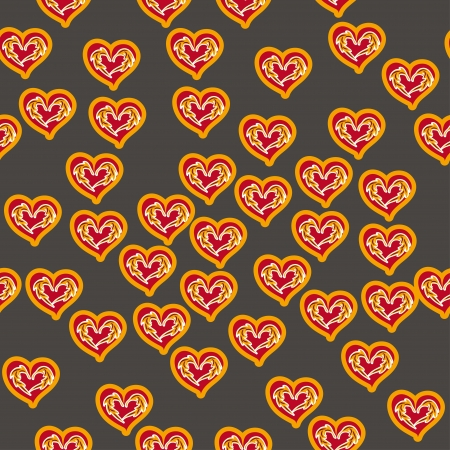 abstract seamless pattern with hearts for st. valebtines day Vector