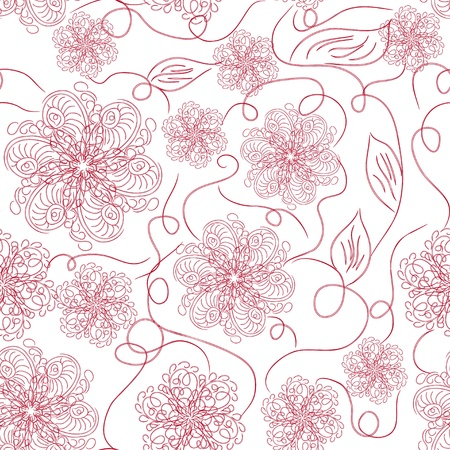 seamless floral pattern. Vector abstract illustration Vector