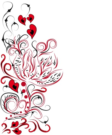abstract bookmark with love elements. Framework Vector