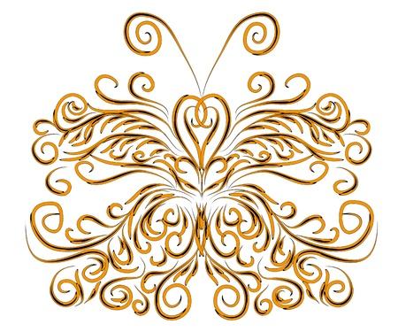 inverno bella carta con illustrazione astratta farfalla isolato.