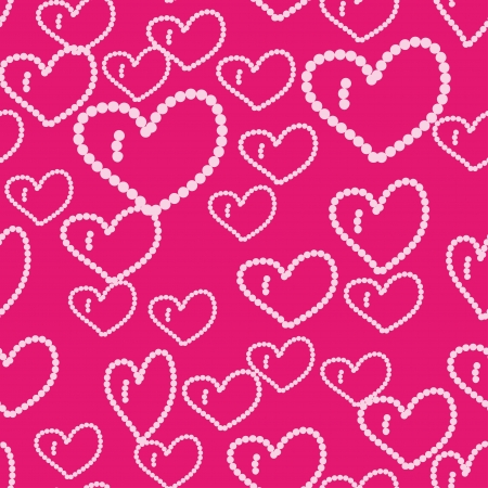 sentimental: beautiful seamless pattern with hearts.Illustration