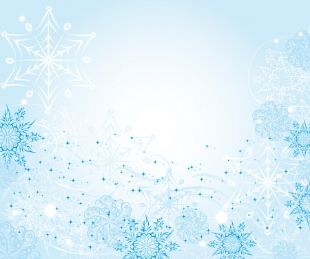 Abstract gentle winter background with snowflakes Vector