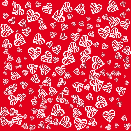 sentimental: beautiful seamless pattern with hearts illustration Illustration