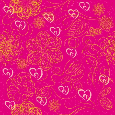 abstract love seamless structure for St.Valentine day illustration Vector
