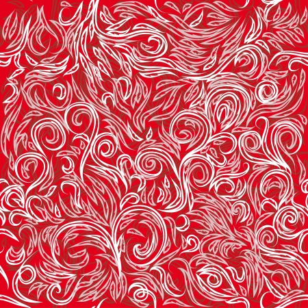 red pattern with curl branches for use as a design Illustration