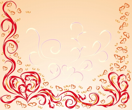 frame for St.Valentines day illustration for your design Vector