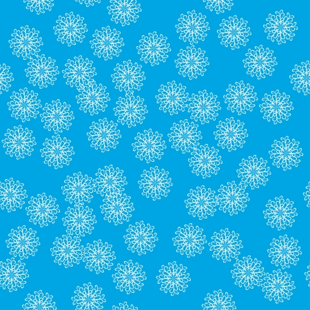 stylish abstract seamless pattern of winter with snowflakes Vector