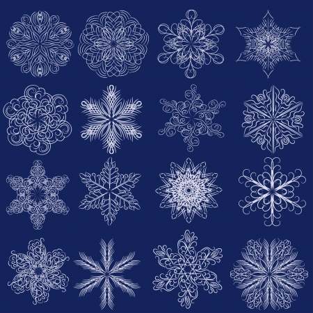Decorative vector snowflakes set - winter collection Vector