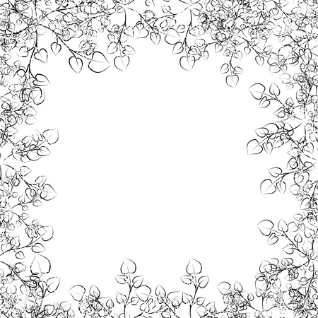 floral frame with curling branches Stock Vector - 16262850