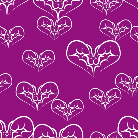 beautiful seamless pattern with hearts. Vector illustration Vector