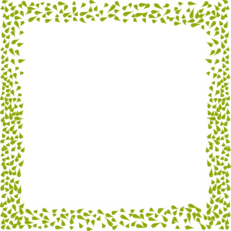 Frame from leaves for your design Stock Vector - 16262861