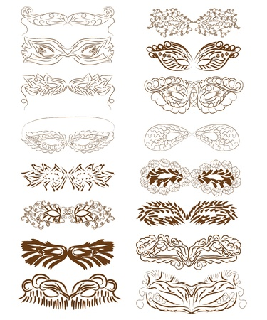 collection of masks Stock Vector - 16262837
