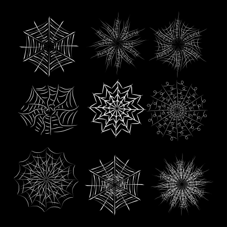 springe: set of spiderweb. Vector collection Illustration