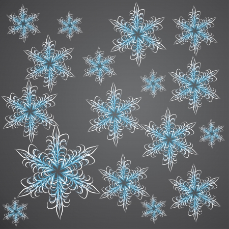 seamless background with winter snowflakes for your design Stock Vector - 16262870