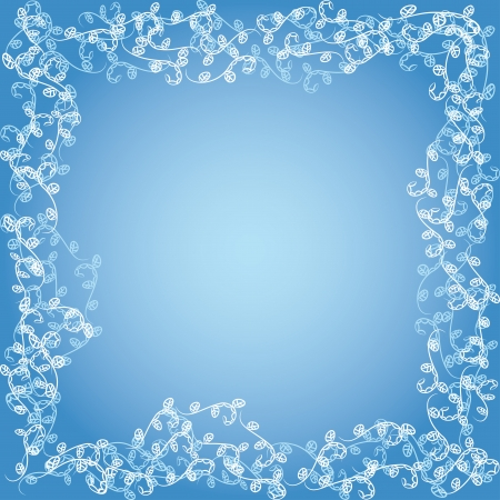 floral frame with curling branches Stock Vector - 16262839