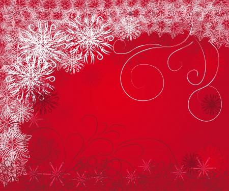 rejoicing: Abstract frame inverno mite con fiocchi di neve