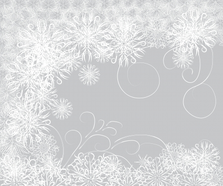 desember: Abstract gentle winter frame with snowflakes