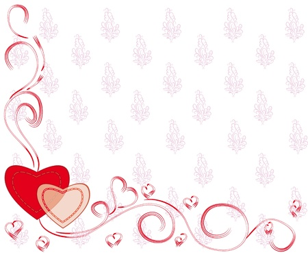 abstract love background for St.Valentine day.  illustration Vector