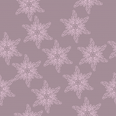 seamless background with winter snowflakes for your design Stock Vector - 16419270