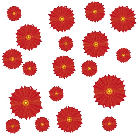 paeony: pattern with abstract gradient flowers