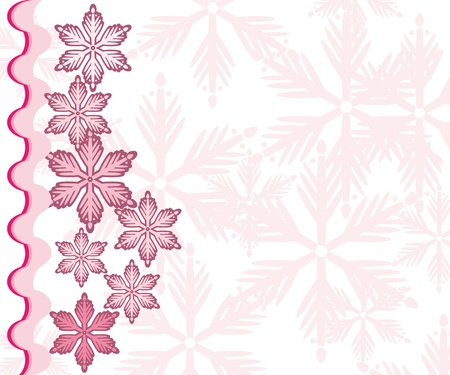 Abstract gentle winter frame with snowflakes Vector