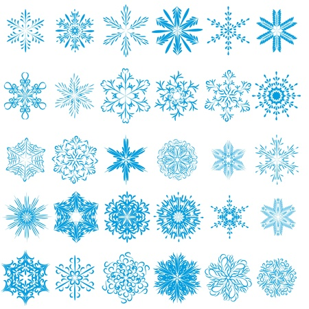 collection of beautiful winter snowflakes.  Vector