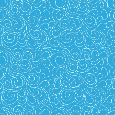 seamless pattern on blue background. Abstract Vector
