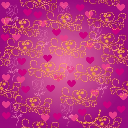 love background.  seamless pattern Vector